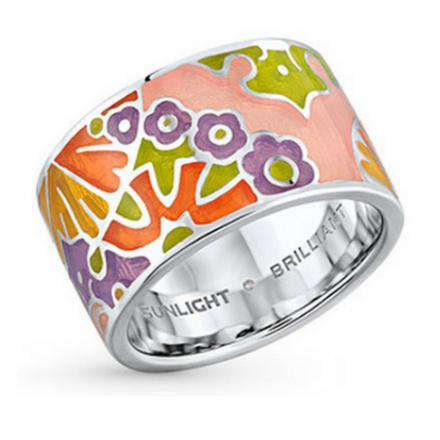 Серебряное кольцо с эмалью. Старая цена – 3 490 руб., новая цена – 1 047 руб.