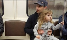 Макарский покатал дочку Машу на метро