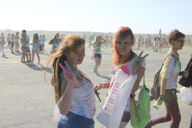 Фестиваль красок в Новосибирске