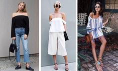 Учимся у фэшн-блогеров: как носить наряды с открытыми плечами