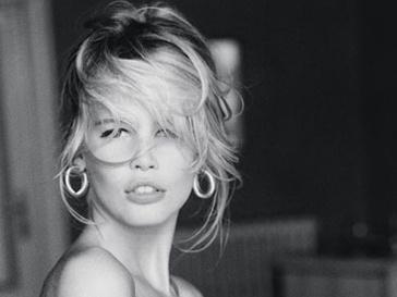 Клаудия Шиффер в рекламной кампании Guess, 1989 год