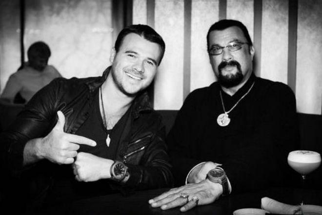 Эмин Агаларов и Стивал Сигал фото