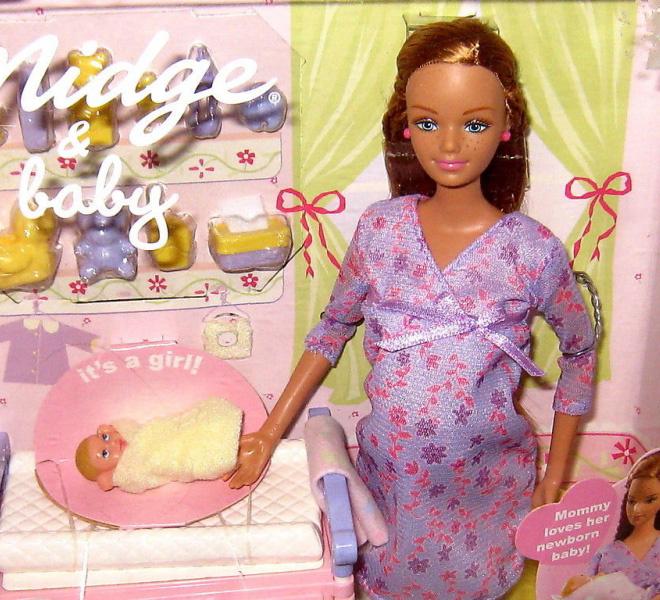 беременная кукла Барби