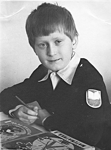 Андрей Рожков, актер «Шоу Уральские пельмени», в детстве, фото