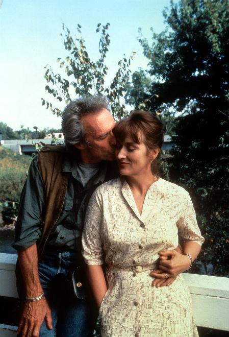Мерил Стрип c Клинтом Иствудом в фильме «Мосты округа Мэдисон», 1975 год