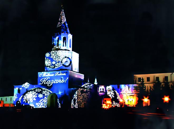 В Казанском кремле стартует световое шоу в формате 3D-mapping