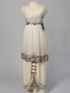 Вечернее платье Paul Poiret, декабрь 1913 года