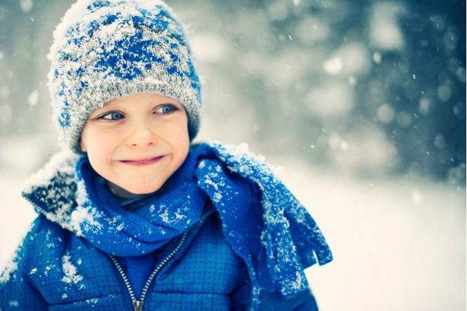 Девочка зимой