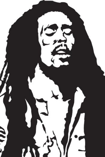 Боб Марли. Векторная иллюстрация.