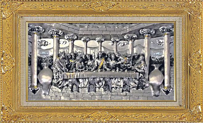 Намоленная серебряная картина, фото