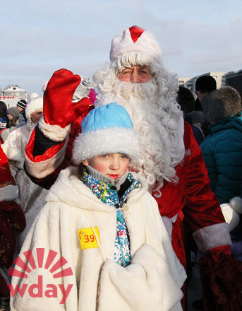 шествие Дедов Морозов в Ангарске