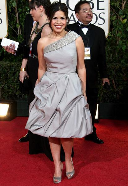Америка Феррера в платье от Oscar de la Renta