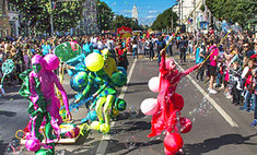 В Воронеже прошел парад уличных театров