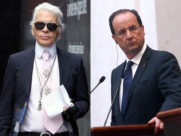 Карл Лагерфельд (Karl Lagerfeld) нажил себе еще одного врага в лице президента Франиции Франсуа Олланда