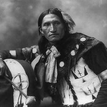 Индеец племени Лакота (ок. 1899).