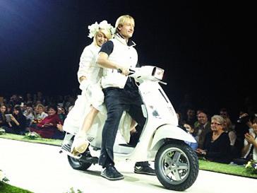 Яна Рудковская и Евгений Плющенко на показе коллекции Odri весна-лето 2013