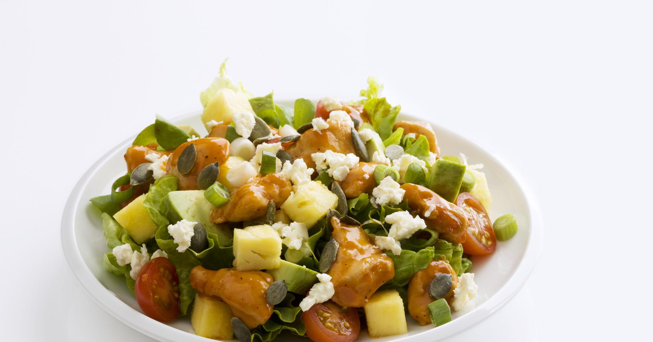 Салаты с ананасом и ветчиной рецепты с простые и вкусные