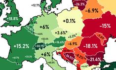 карта изменилось количество жителей стран европы последние