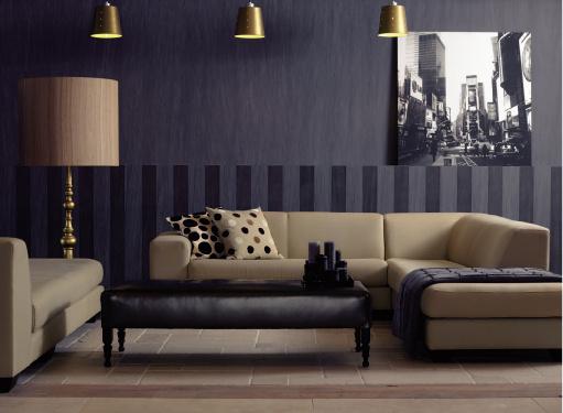 Рисунок в виде вертикальных полос позволяет визуально увеличить высоту помещения. Коллекция Amazone (Arte)