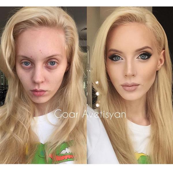Невесты до и после макияжа фото