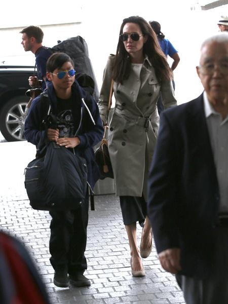 Анджелина Джоли с сыном, фото
