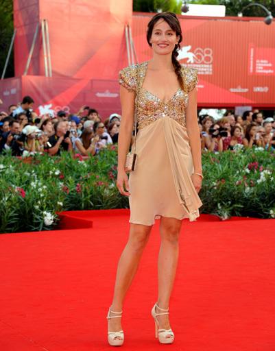 Мари Джиллиан (Marie Gillain) на открытии 68-го Венецианского кинофестиваля