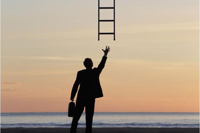 Человек и лестница