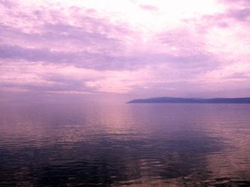 Вид на озеро Байкал