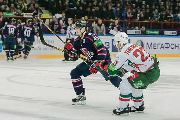 Победный матч с «Ак Барсом», после которого «Сибирь» вышла в полуфинал российского чемпионата.