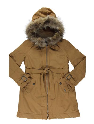 Женская зимняя куртка с меховым. Фото portalmoda.ru