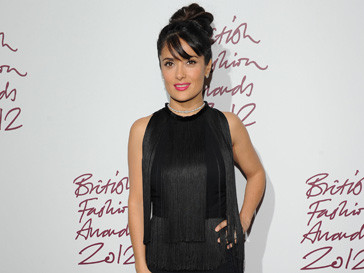 Сальма Хайек (Salma Hayek) на British Fashion Awards 2012