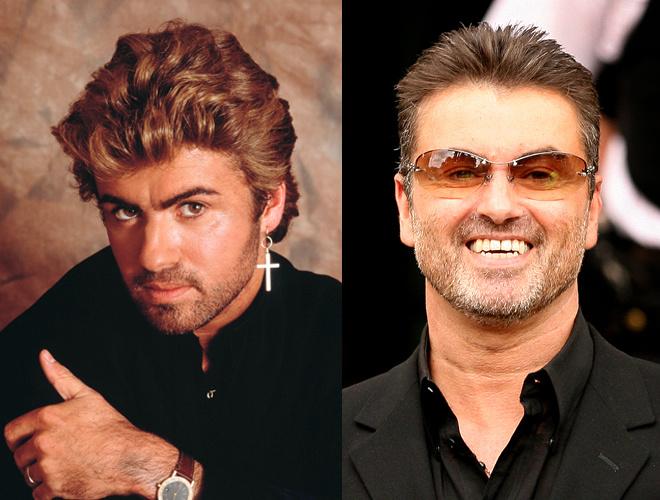 Джордж Майкл до и после пластики