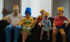 семья пересняла заставку симпсонов карантинном стиле видео