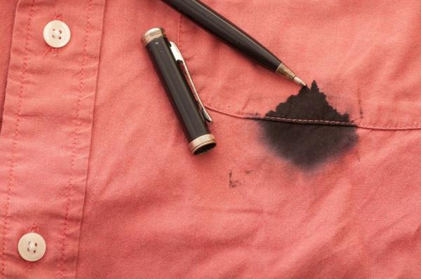 Как вывести следы чернил от ручки
