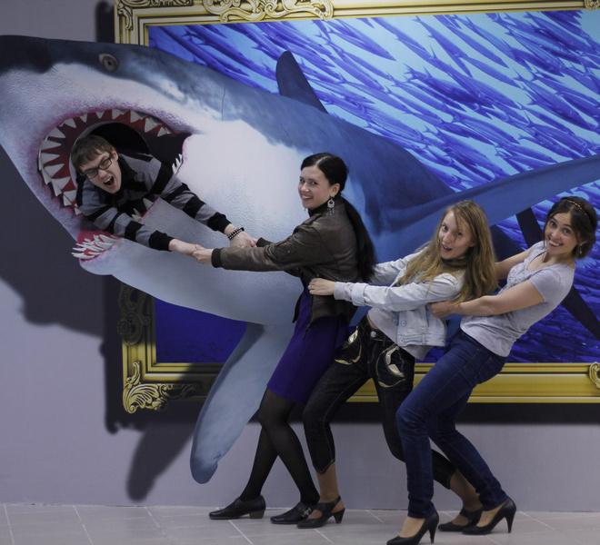 3-D выставка картин