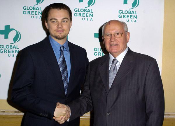 Леонардо Ди Каприо и Михаил Горбачев