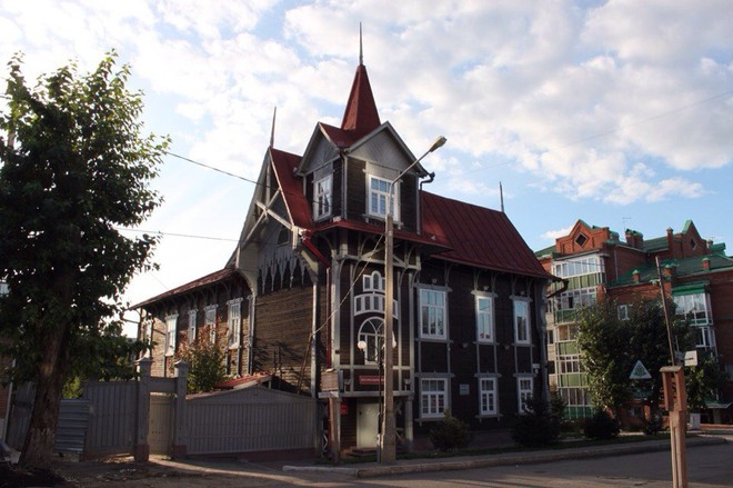 Деревянные дома в Томске