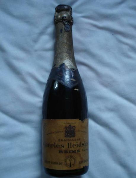 Shipwrecked 1907 Heidsieck & Co Monopole Champagne
