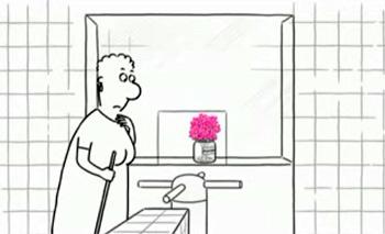 Кадр из мультфильма «Lavatory – Lovestory»