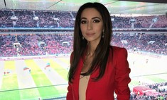 Неожиданно: певица Зара на чемпионате мира болеет за Германию