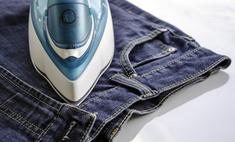 Уход за одеждой: глажка джинсов