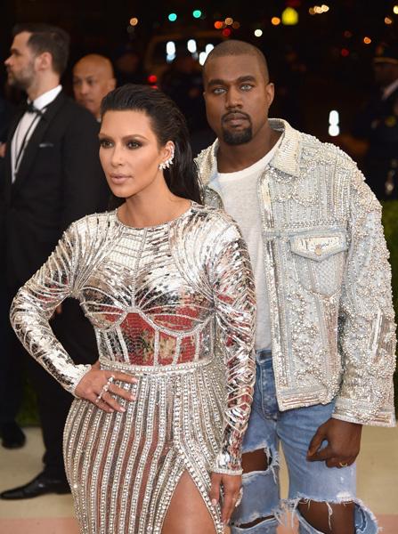 Ким Кардашьян и Канье Уэст на Met Gala 2016