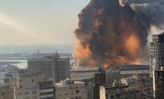 выглядит взрыв бейруте разрешении слоу-мо видео