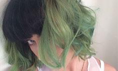 Кэти Перри перекрасилась в зеленый цвет