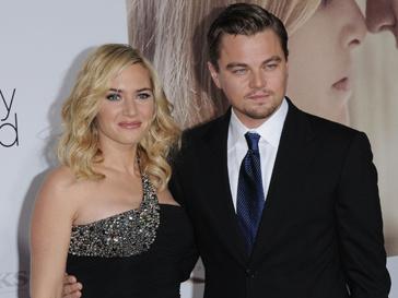 """Кейт Уинслет и Леонардо ДиКаприо на премьере фильма """"Дорога перемен"""" в 2008 году."""
