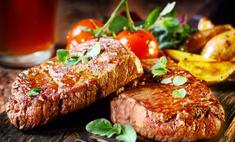 Жареное мясо на сковородке