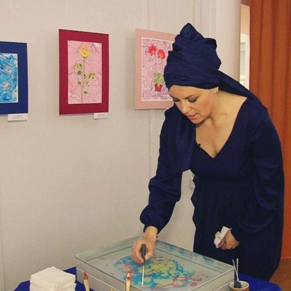 выставка картин эбру