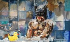 Картину с Бэтменом в неглиже можно купить за 80 тысяч рублей