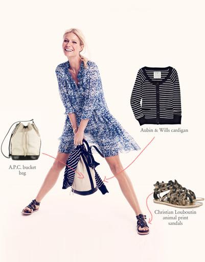 Легкое платье, кардиган и женственный рюкзак - идеальный вариант для прогулок и поездок за город.