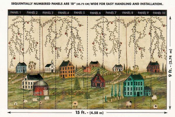 Для удобства монтажа панели, изкоторых составляется сюжет Grazing из коллекции Mural Portfolio (Three Sisters Studio для York Wallcoverings), пронумерованы от1до 10. 23 100 руб.